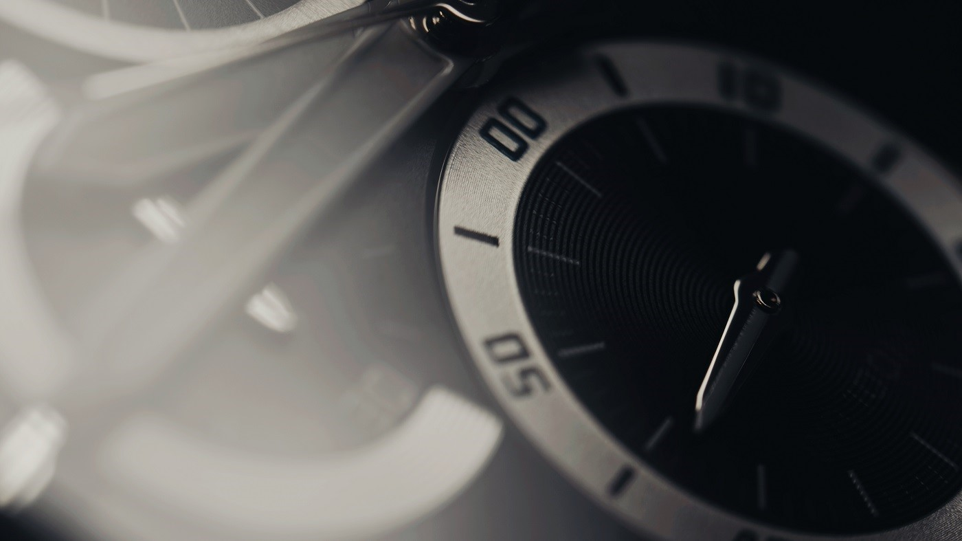 Beautiful luxury macro view of man watch. time concept